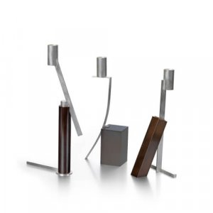 Silver and brass 'Mode Candleholders' by Rebecca de Quin