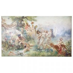'Happy Arcadia', monumental Russian oil painting by Makovsky
