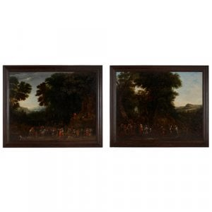 Pair of Old Master paintings by Johannes Jakob Hartmann