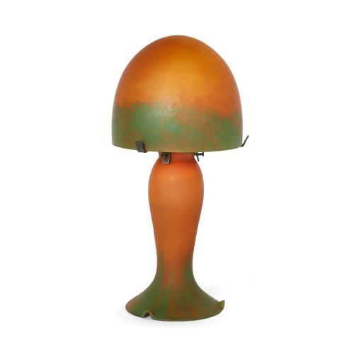 Art Nouveau antique marmorean lamp attributed to Daum