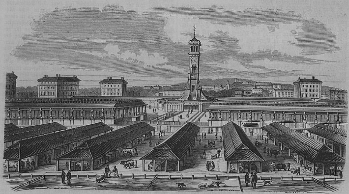 caledonian road market in 1855