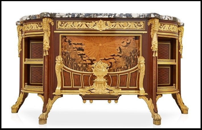 Ormolu mounted cabinet by Linke