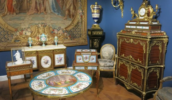 The Louis XVI room at the Louvre Museum