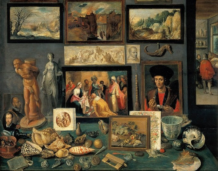 chamber of art and curiosities by frans francken the younger 1636