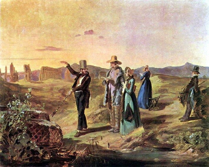 englander in der campagna by carl spitzweg 1845 Grand Tour