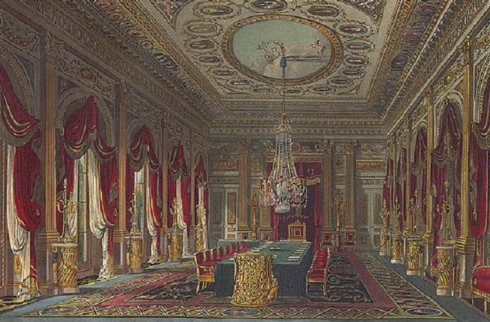 throne room and carlton house, london by henry holland
