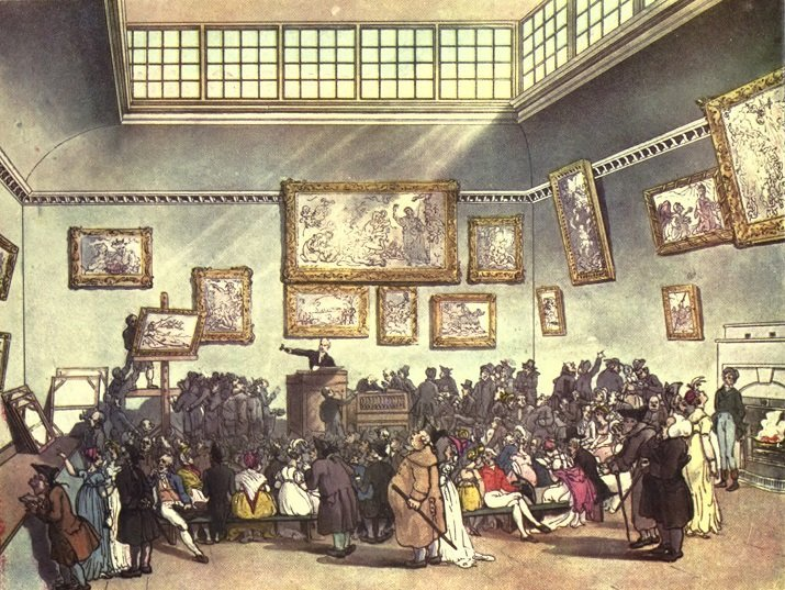 christies auction room 1808