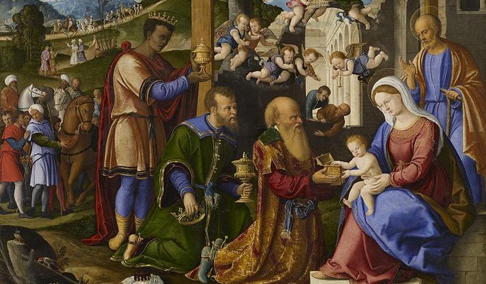The Adoration of the Three Kings by Girolamo da Santacroce