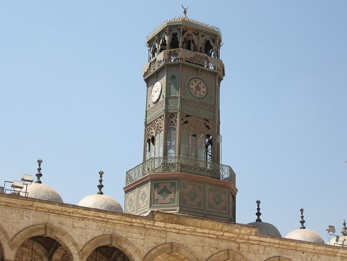 Photograph of the clock tower of the Muhammad Ali Mosque, Cairo