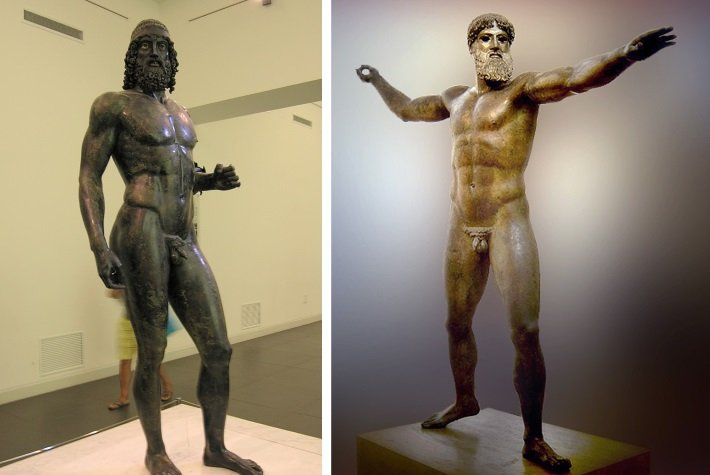 The Riace and Artemision bronzes