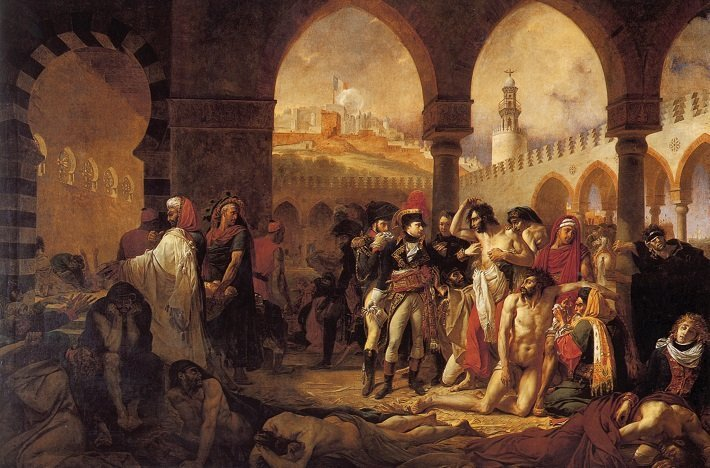 Antoine-Jean Gros Bonaparte Visiting the Plague Victims of Jaffa