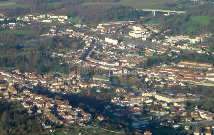 Aerial view of the town of Baccarat