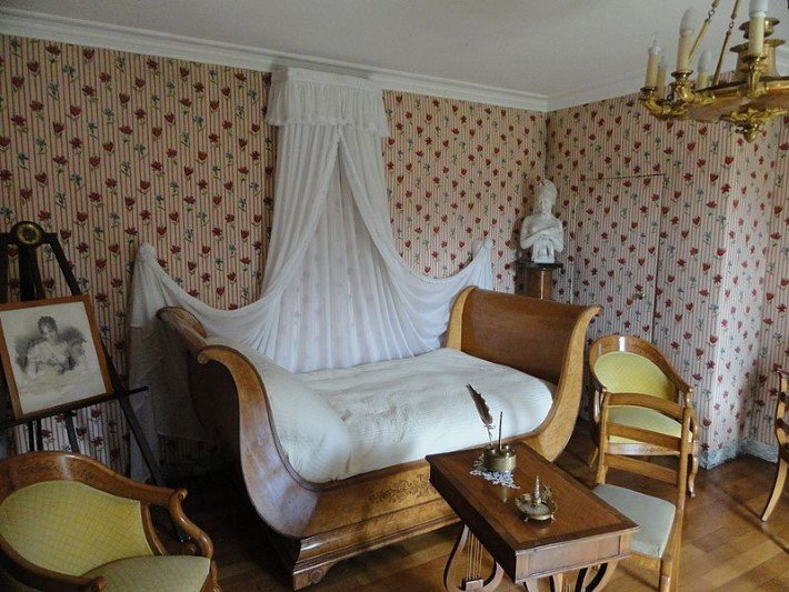 Bedroom of Madame Recamier at the House of Chateaubriand
