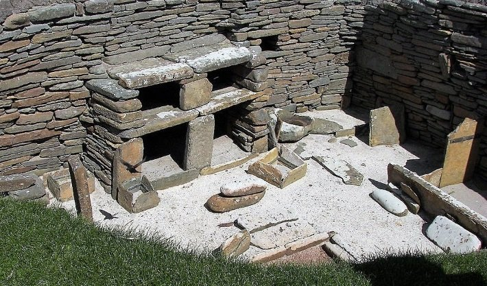 House at Skara Brae stone furniture