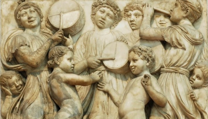 cantoria by luca della robbia carving