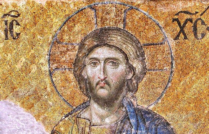 Christ Pantocrator mosaic in Hagia Sophia