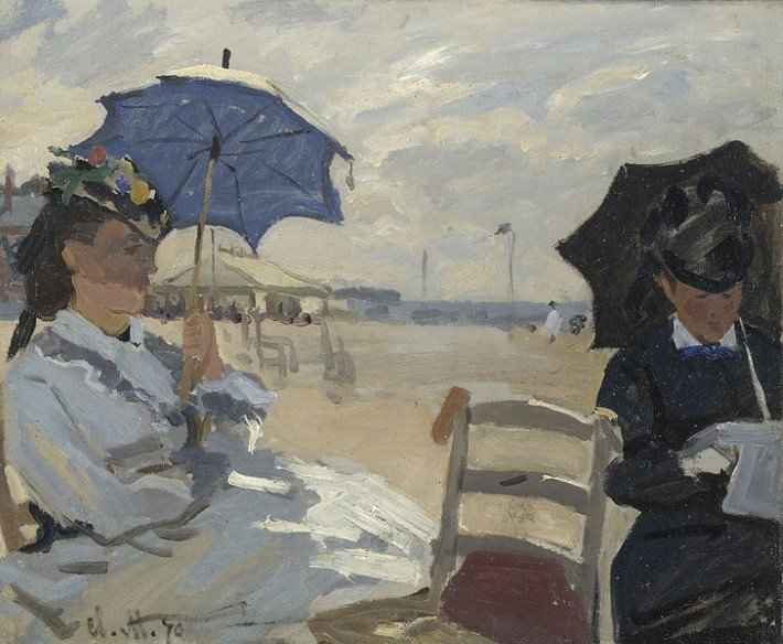 Monet beach at trouville painting