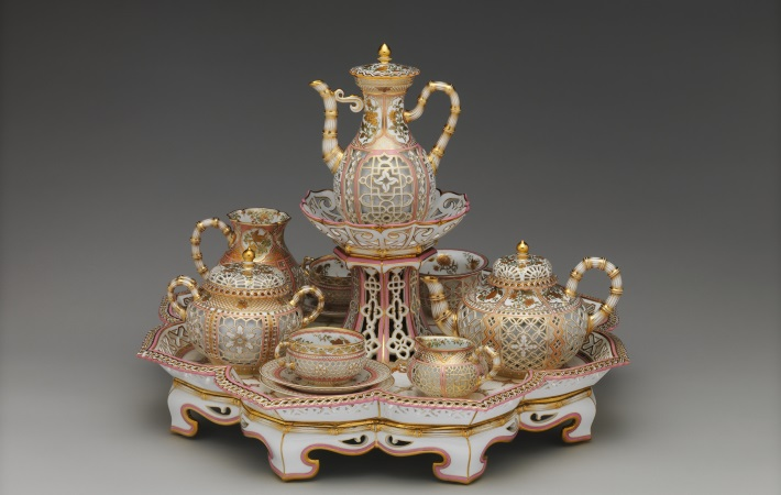 Sevres reticulated porcelain tea and coffee service