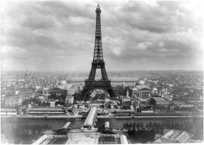 The Eiffel tower at the 1889 world fair