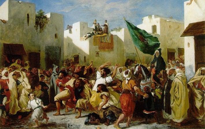 Fanatiques de Tanger by Delacroix
