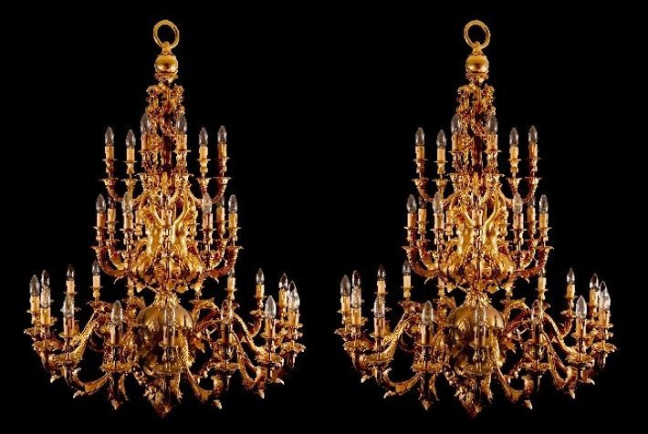 gilt bronze rococo style chandeliers mayfair gallery