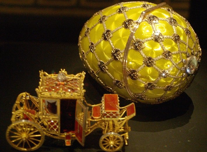 Faberge's Imperial Coronation Egg, completed 1897