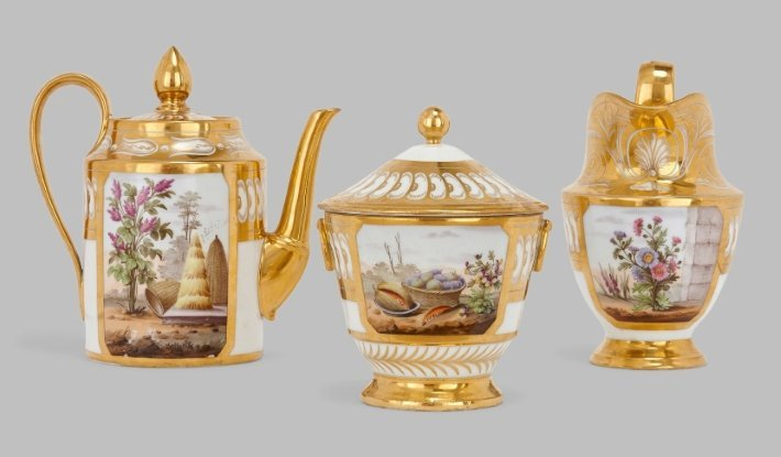 paris porcelain tea and coffee service