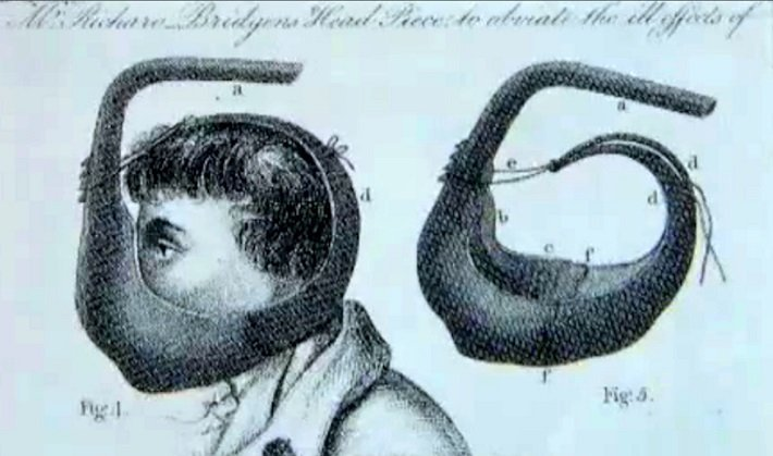 Gilders protective mask against mercury fumes