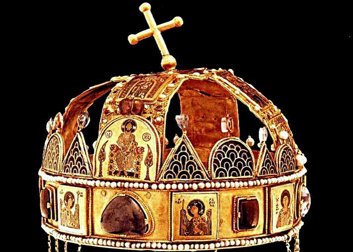 Holy Crown of Hungary (St Stephen's Crown) with Byzantine enamel