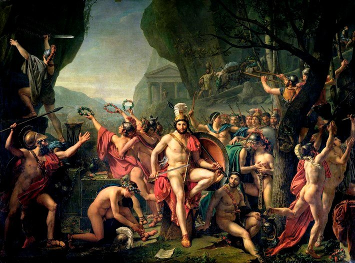 Leonidas at Thermompylae by Jacques-Louis David