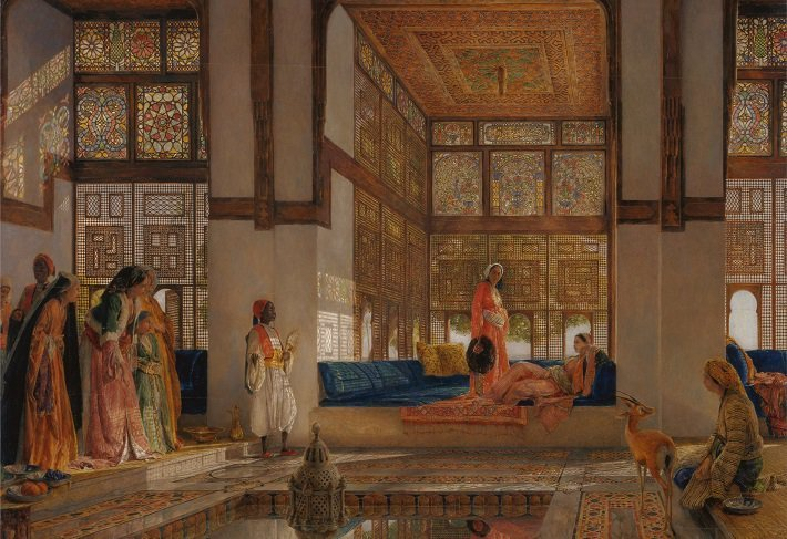 A Lady Receiving Visitors (The Reception) by John Frederick Lewis