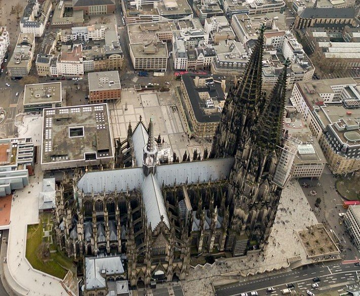 Cologne cathedral from above