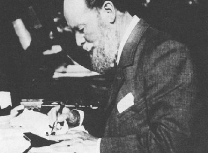 Peter Carl Faberge in one of his workshops