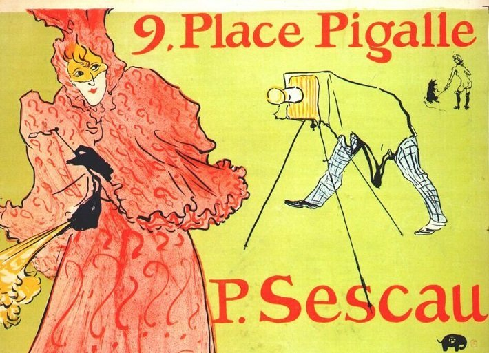 le photographer sescau, advertising poster by henri de toulouse-lautrec