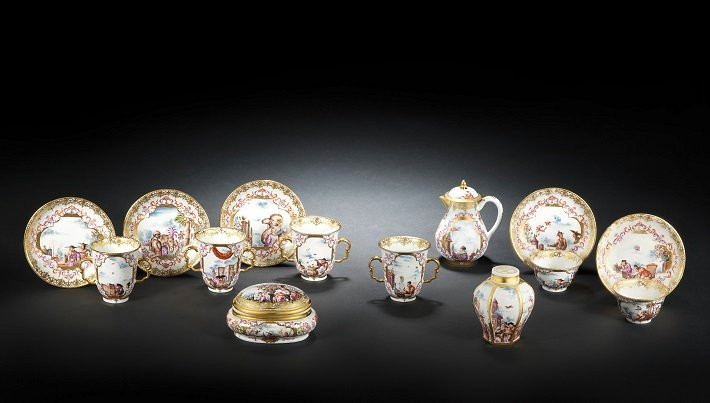 Meissen's famed 'Half Figure' porcelain tea set, c. 1723-34