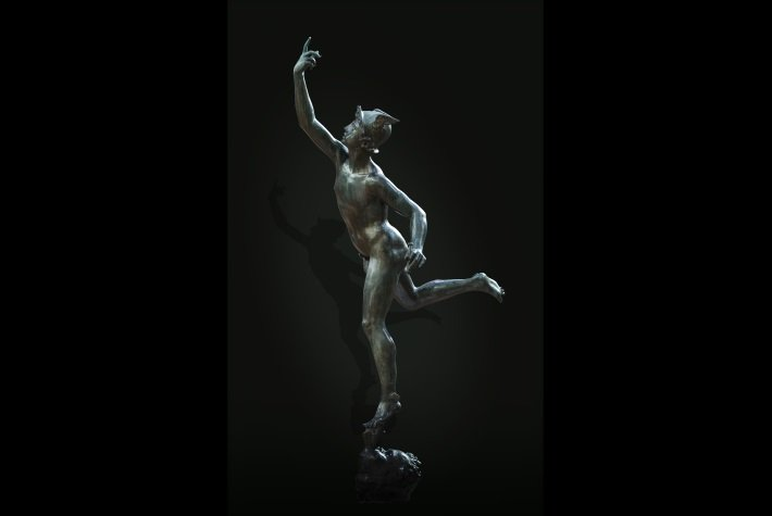 Bronze figure of Mercury after Giambologna