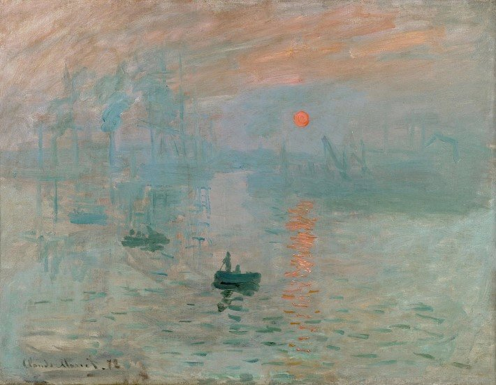 Impression, sunrise by Monet
