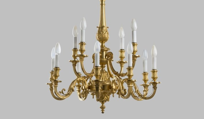 barbedienne ormolu chandelier mayfair gallery