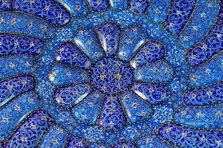 Persian Meenakari plate from modern day Iran