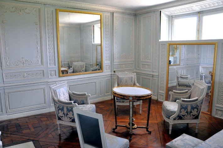 Marie Antoinette's boudoir at the Petit Trianon in Versailles