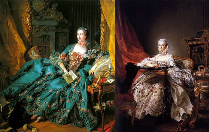 Portraits of Madame de Pompadour by Boucher and Drouais