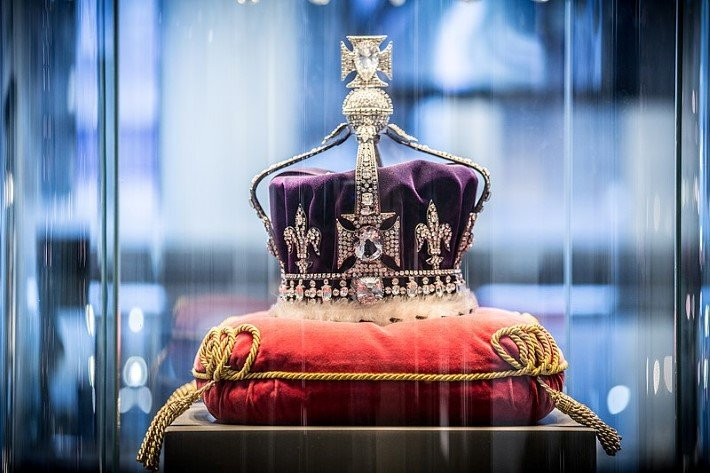 The Koh-i-noor diamond set into the Queen Mary Crown