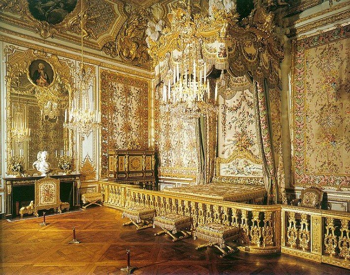 Marie Antoinette's Official state bedchamber in Versailles