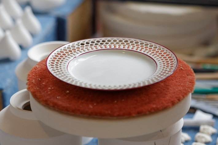 reticulated porcelain plate by the manufacture nationale de sevres