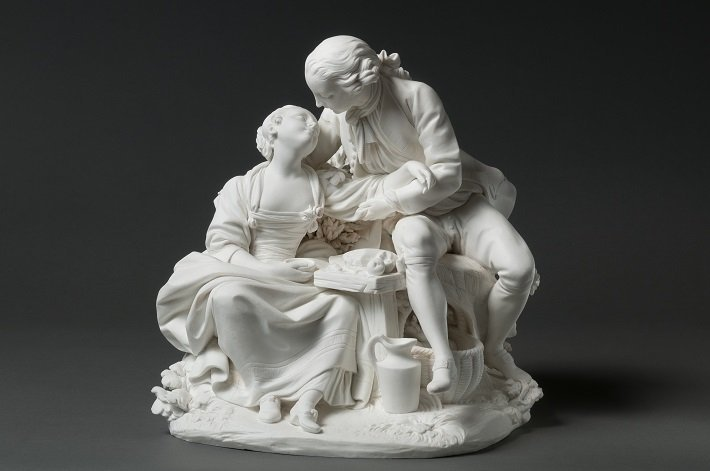 Sevres soft paste porcelain group after francois boucher