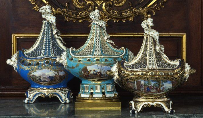 Sevres garniture set by Mayfair Gallery