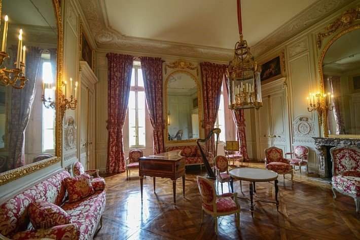 Marie Antoinette's salon at the Petit Trianon in Versailles