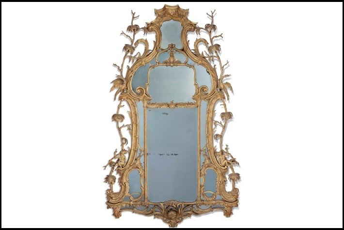 William Mathie George III period chinoiserie mirror