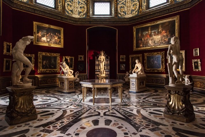 The Tribuna at the Uffizi Gallery in Florence