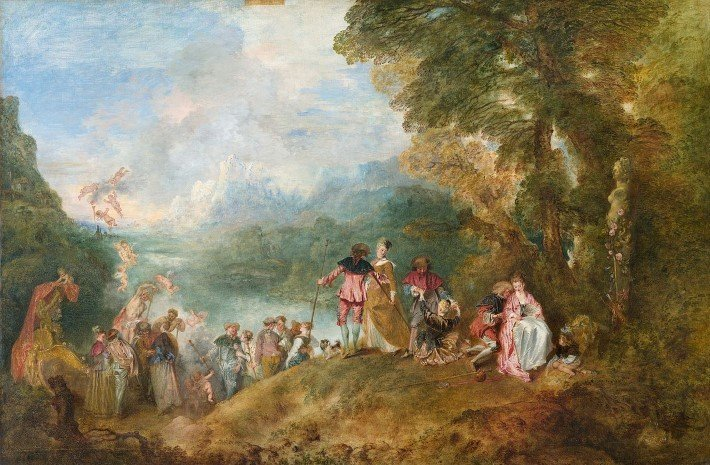 the embarkation for cythera by antoine watteau